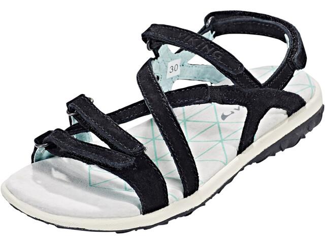 Viking Footwear Svala Sandały Dzieci, black/iceblue